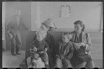 """""""Agricultural workers wait in the clinic at the FSA (Farm Security Administration) farm workers community, Woodville, California"""""""