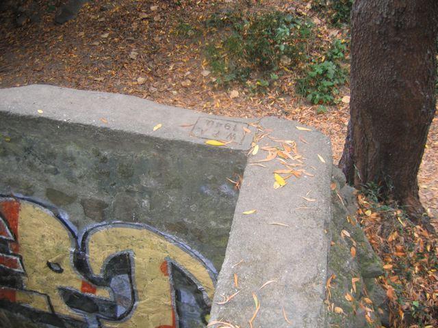 graffitti and a WPA stamp at Saual Creek