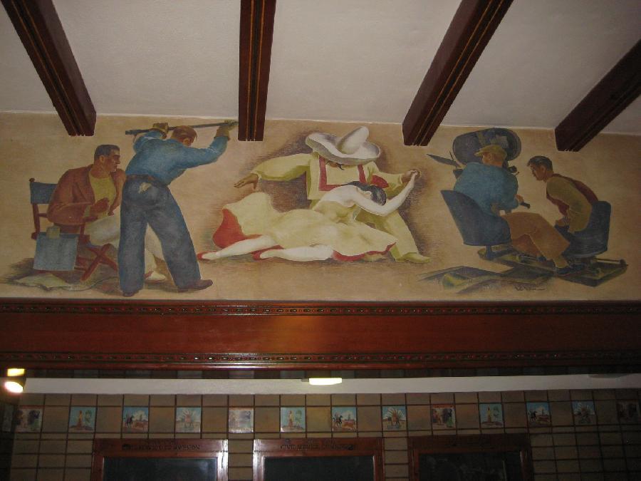 Burbank Post Office Mural, Filmmaking Panel