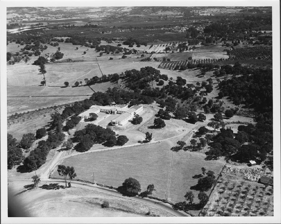 Aerial view of Oak Knoll Sanatorium