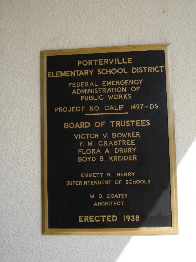 Bartlett School PWA Plaque