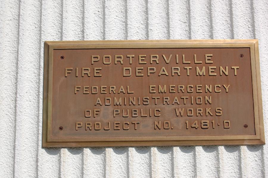Porterville Fire Department PWA Plaque