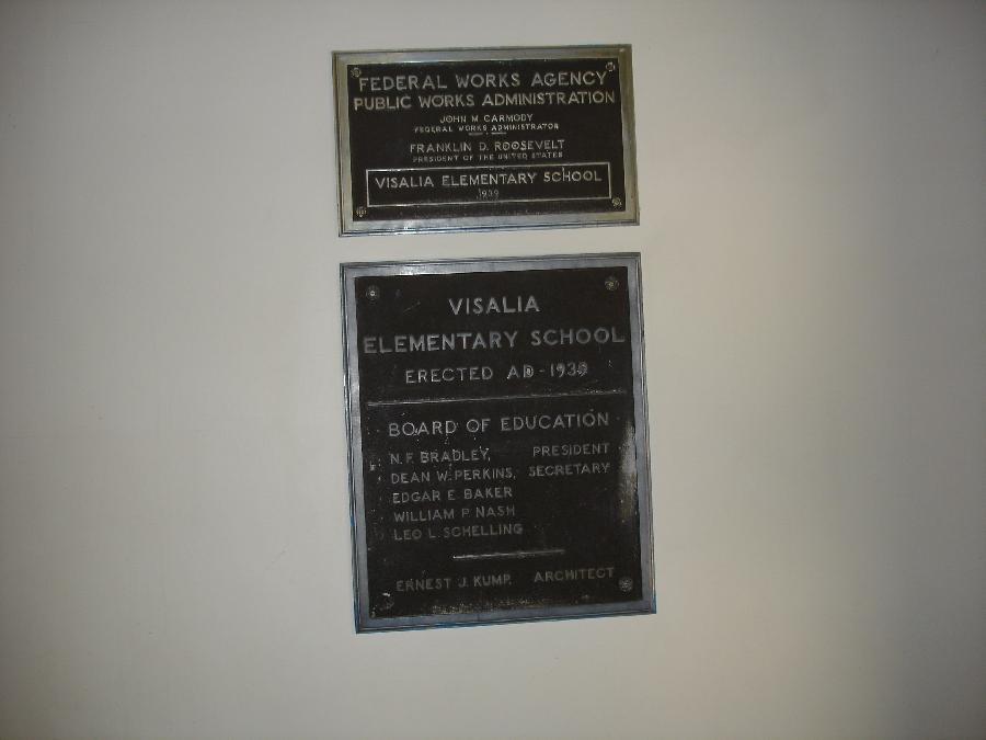 Sierra Vista plaque