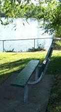Benches around American Legion Park