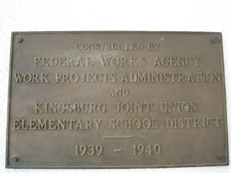 Washnigton School WPA Plaque
