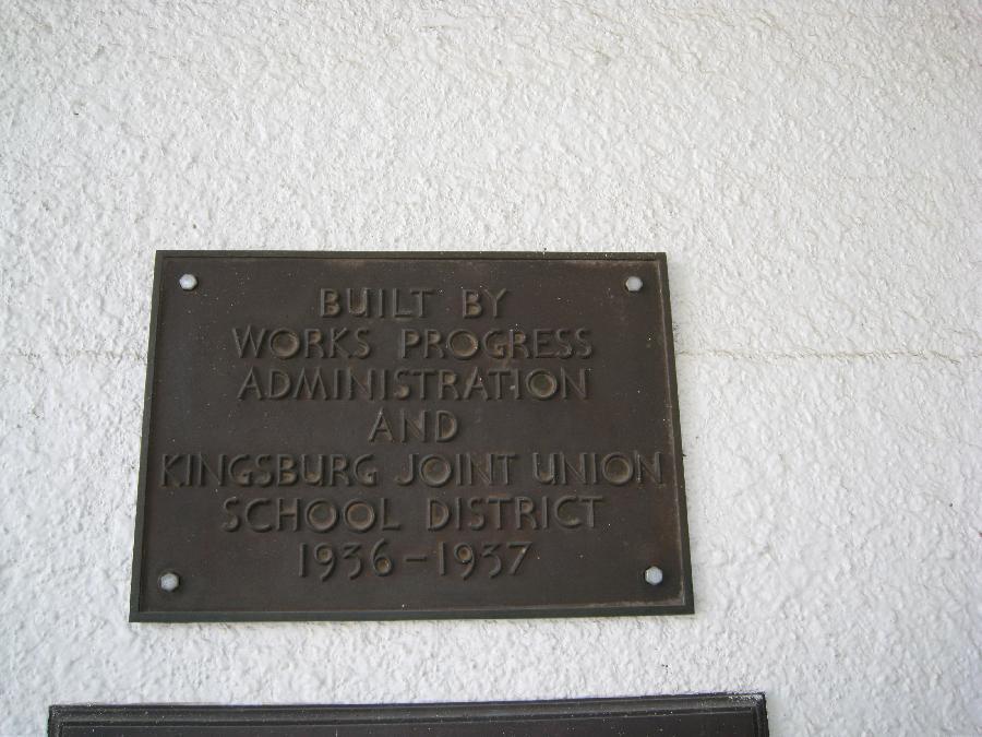 Roosevelt School WPA Plaque