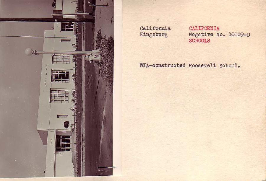 Roosevelt School, Kingsburg