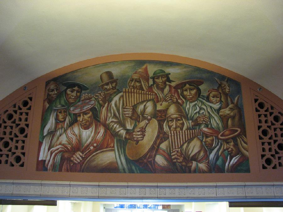 """Los Angeles Post Office """"Cultural Contributions of North, South and Central America"""" (3)"""