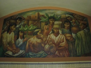 """Los Angeles Post Office """"Cultural Contributions of North, South and Central America"""""""