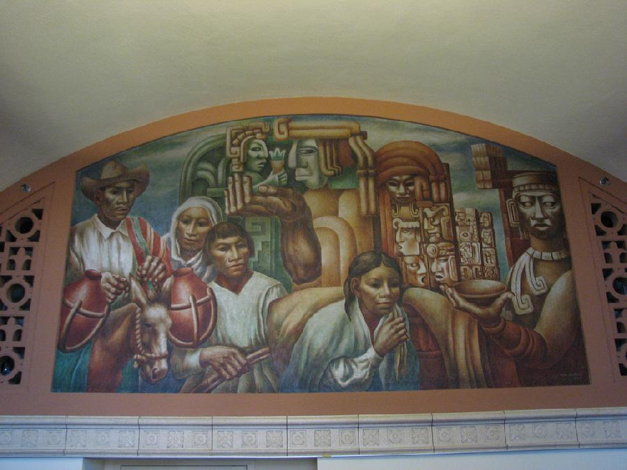 """Los Angeles Post Office """"Cultural Contributions of North, South and Central America"""" (5)"""