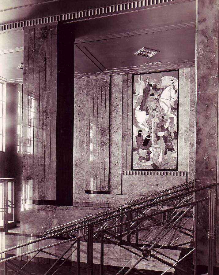 Alameda County Courthouse Marble Mural Archive Photo