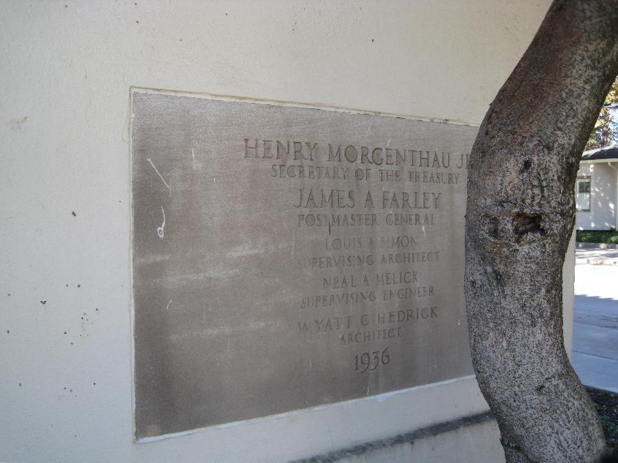 Tracy Historical Museum, plaque