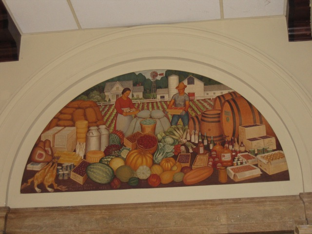 Post office murals modesto ca living new deal for California mural