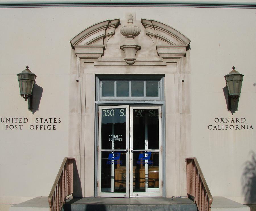 Oxnard Post Office Entrance