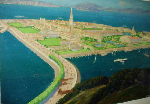 """""""First Official View of Treasure Island"""" Mural"""