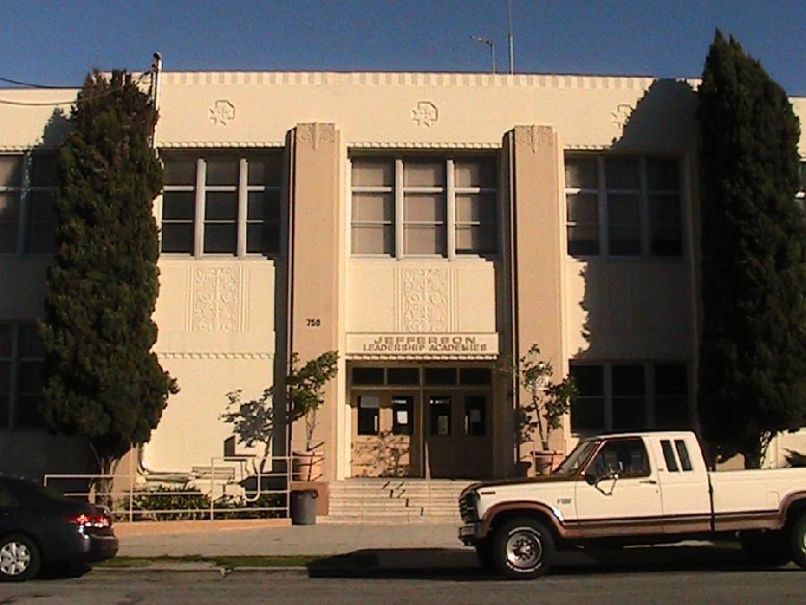 Jefferson Middle School Main Entrance