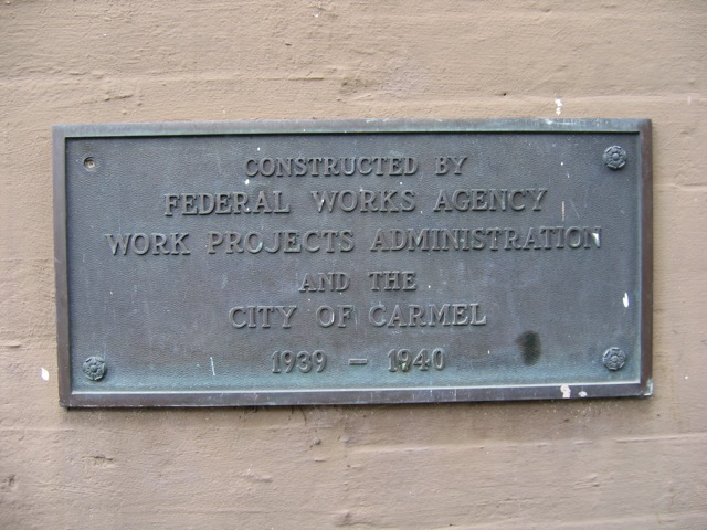 Carmel Forest Theater WPA Plaque