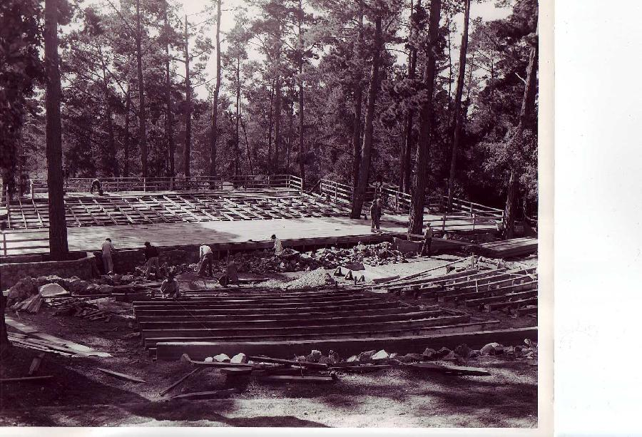Carmel Forest Theater Under Construction by the WPA