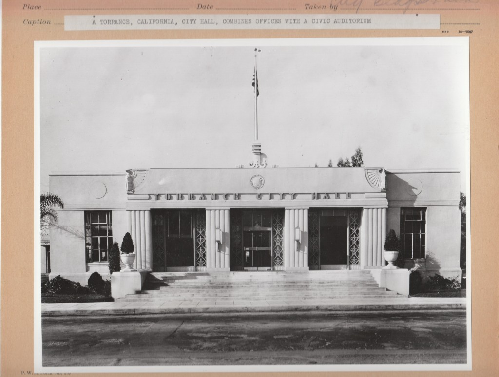 Torrance city hall former torrance ca living new deal city hall as it first looked after pwa construction sciox Images
