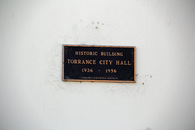 Torrance city hall former torrance ca living new deal torrance ca old city hall historical marker sciox Images