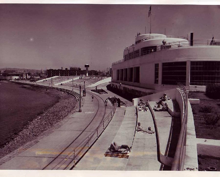 Aquatic Park with Sunbathers