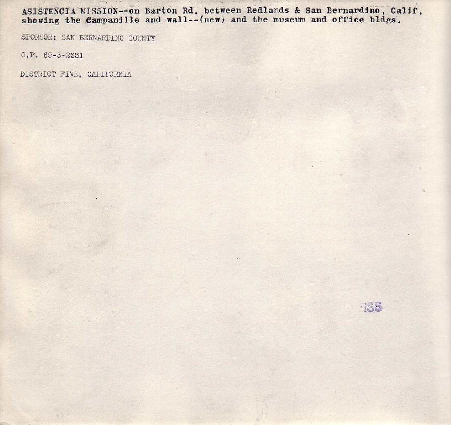 Asistencia Mission Verso
