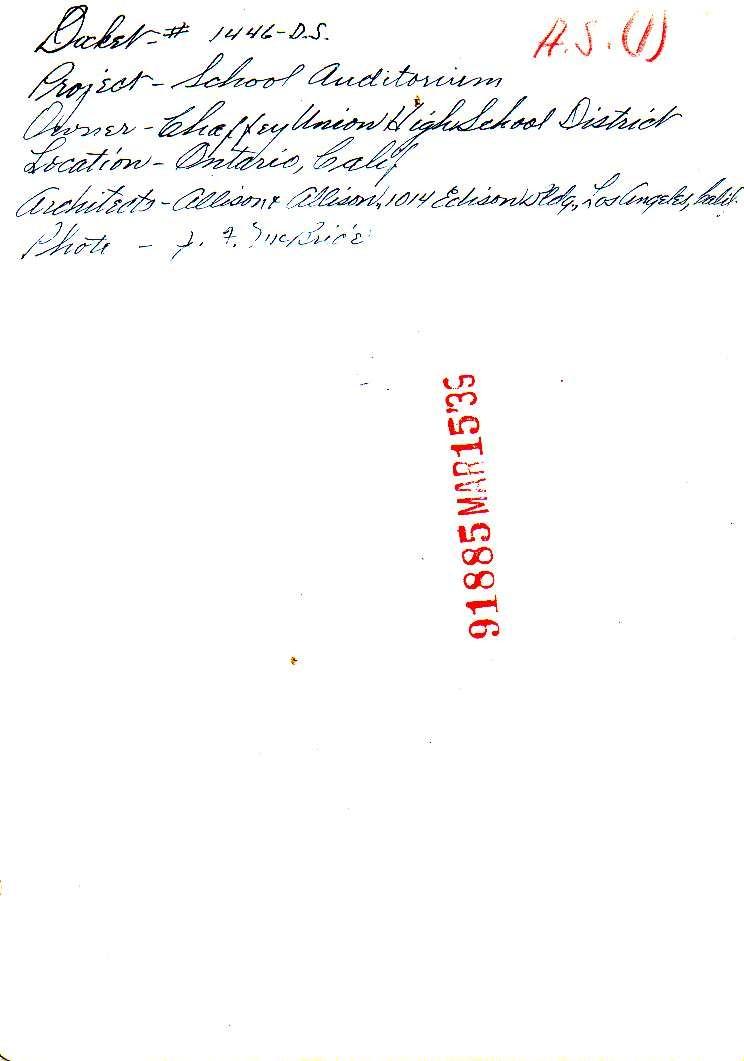 Chaffey School Verso