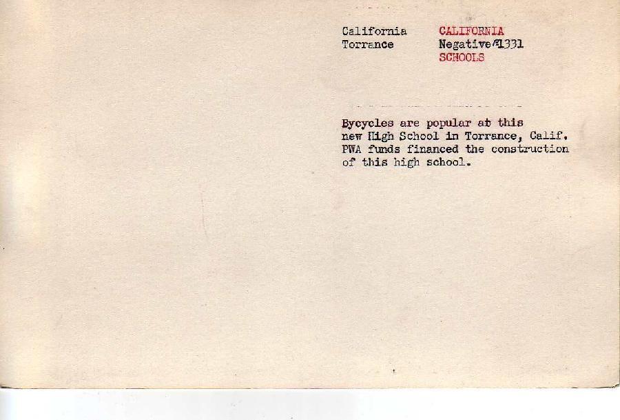 Torrance High School Verso