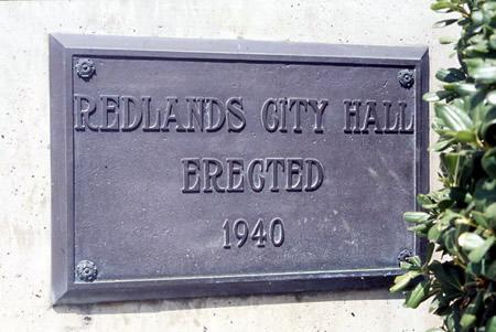 Old Redlands City Hall Plaque