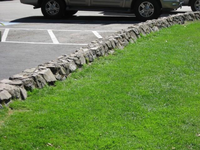 Rock Wall in Parking Lot