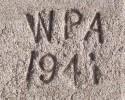 Madera WPA Sidewalk Stamp