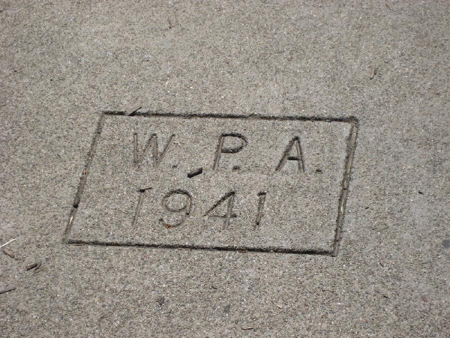 Piedmont Avenue School WPA Sidewalk Stamp