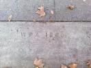 McKinley Park WPA Sidewalk Stamp