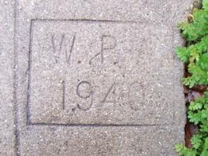 Oakland WPA Sidewalk Stamp