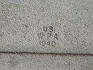 Redlands WPA Sidewalk Stamp