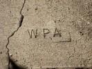 Yreka WPA Sidewalk Stamp