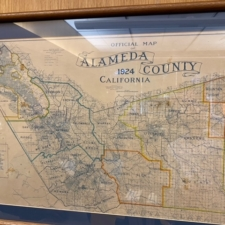 1924 map of school districts in Alameda County
