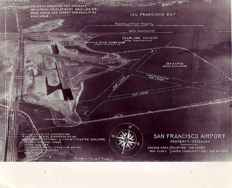 San Francisco Airport Aerial Diagram