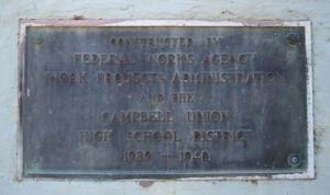 Campbell Stadium WPA Plaque (North)