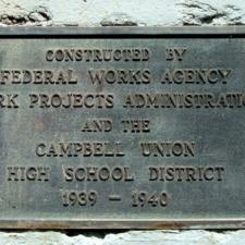 Campbell Stadium WPA Plaque (South)