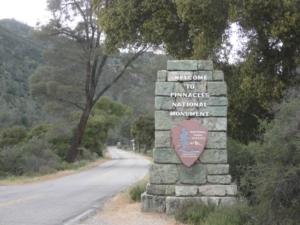 Pinnacles National Monument Entrance Marker