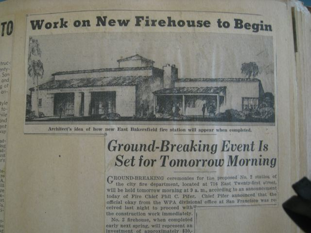 Sketch of East Bakersfield Firehouse No. 2