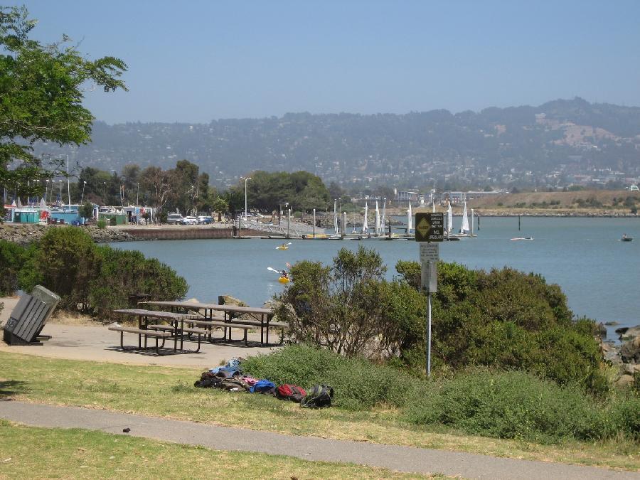 Berkeley Marina Picnic Tables And Lagoon