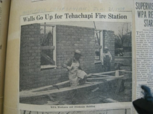 Tehachapi Fire Station Under Construction by WPA