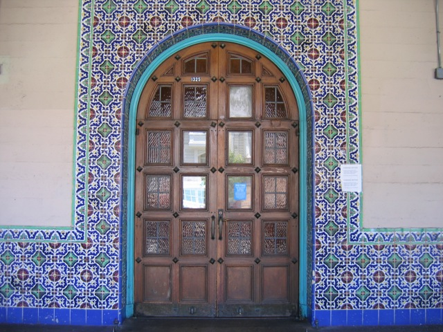 Sunshine School Door with Tilework