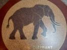 Floor mosaic, Elephant House, National Zoo - Washington DC