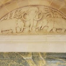 Bas-relief, Elephant House, National Zoo- Washington DC