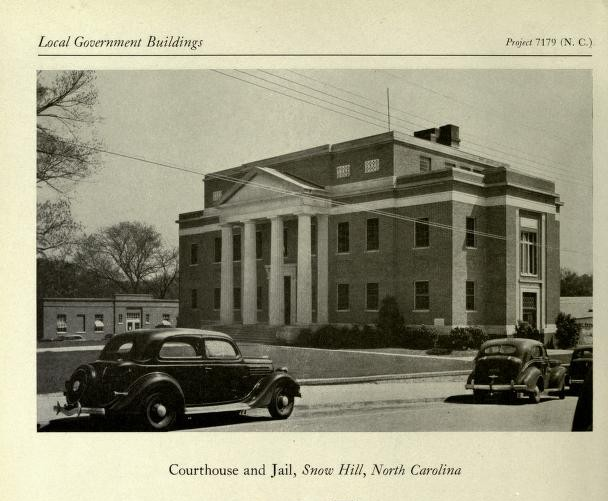 Greene County Courthouse - Snow Hill NC - Living New Deal