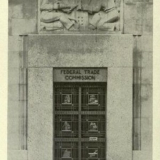 Entrance with bas-relief,Federal Trade Commission Building - Washington DC