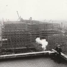 Harold Ickes surveying construction of the Interior building - Washington DC